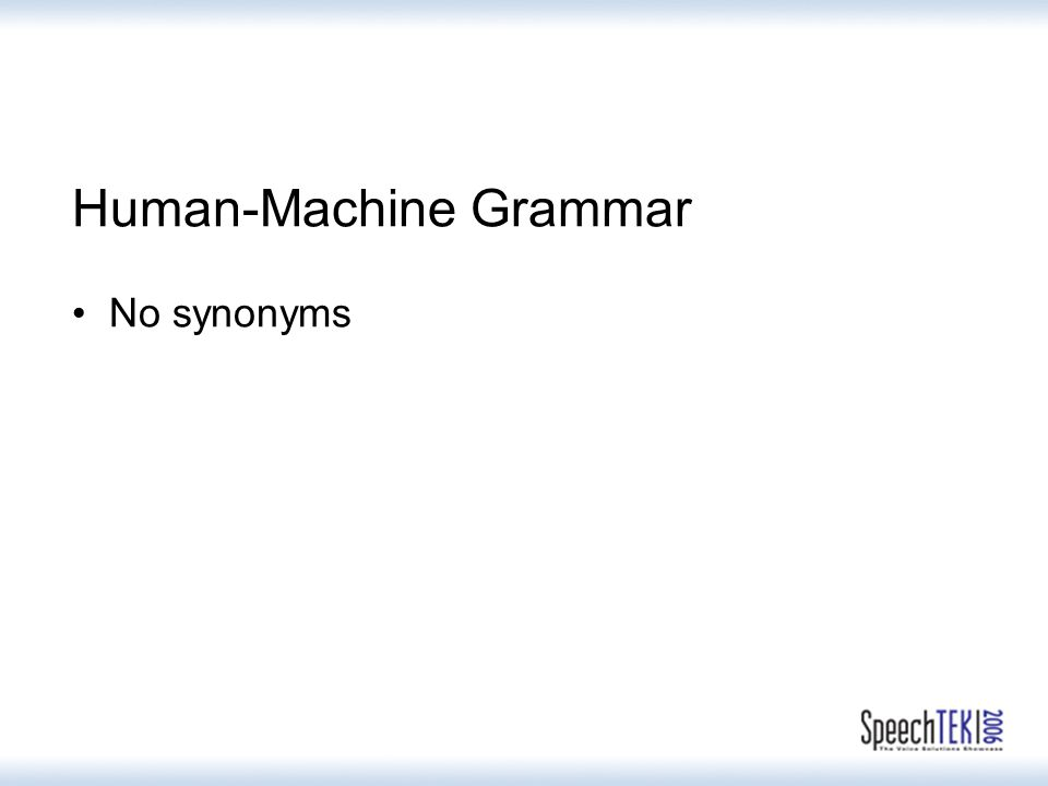 Human-Machine Grammar No synonyms