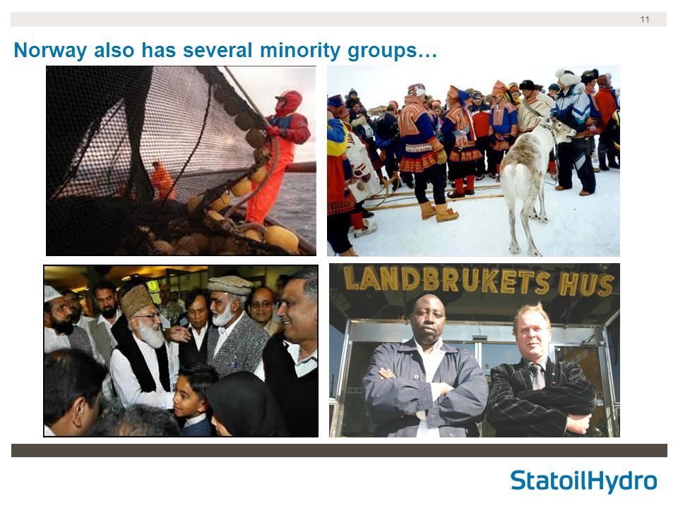 11 Norway also has several minority groups…