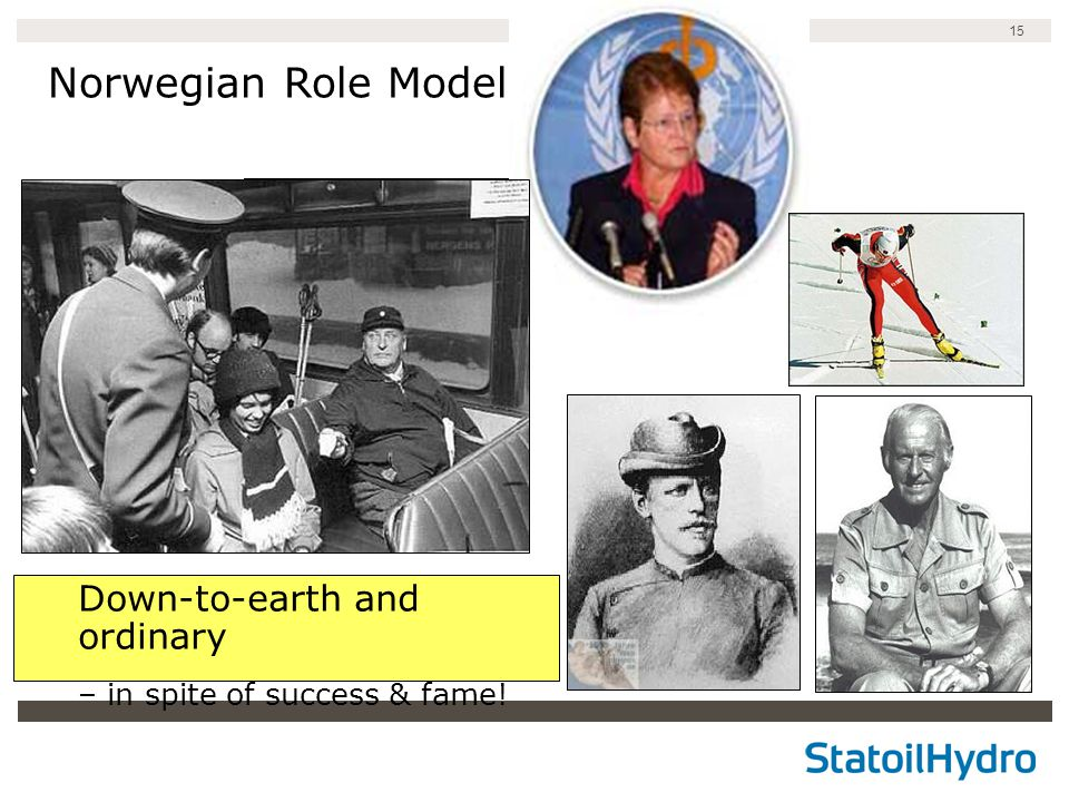 15 Norwegian Role Models Down-to-earth and ordinary – in spite of success & fame!