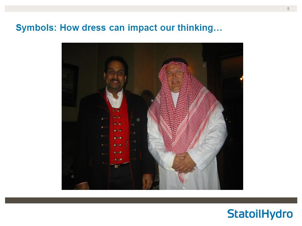 5 Symbols: How dress can impact our thinking…