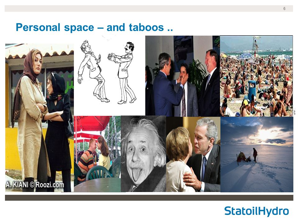 6 Personal space – and taboos..