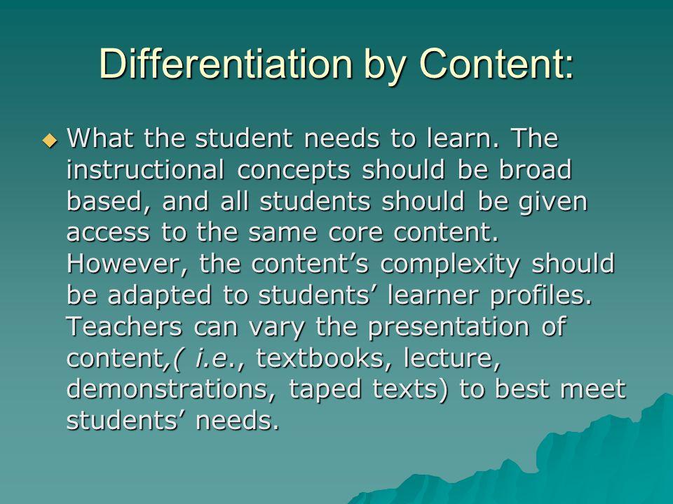 Other Strategies:  Technology: Web Quests  Mini Classes  Mentors  Literature Circles  Questivities  Curriculum Compacting