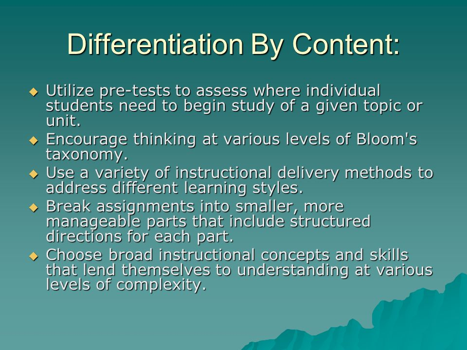 Tools for Differentiated Assessment:  Rubrics  Product and Process Criteria Cards  Mini Rubrics such as Tic Tac Toe  Tiering Summative Assessments