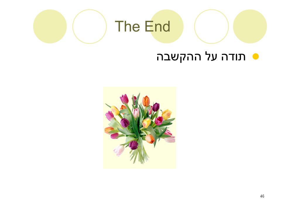 46 The End תודה על ההקשבה