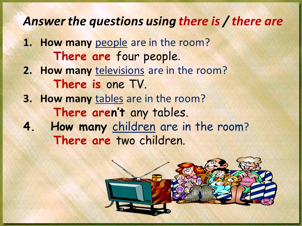 1.How many people are in the room. There are four people.