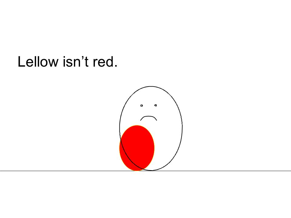 Lellow isn't red.