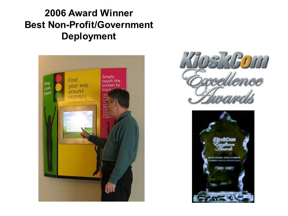 2006 Award Winner Best Non-Profit/Government Deployment