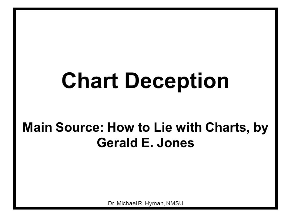 Dr. Michael R. Hyman, NMSU Chart Deception Main Source: How to Lie with Charts, by Gerald E. Jones