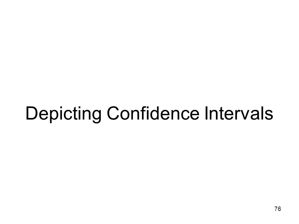 76 Depicting Confidence Intervals