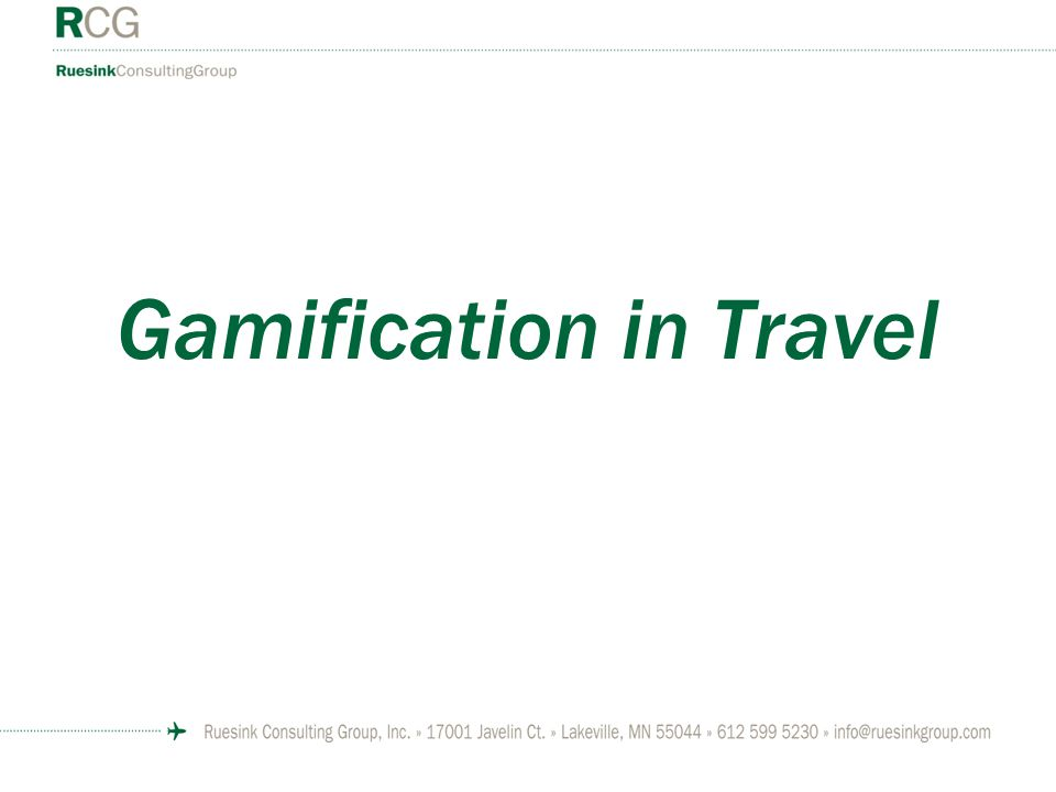 Gamification in Travel