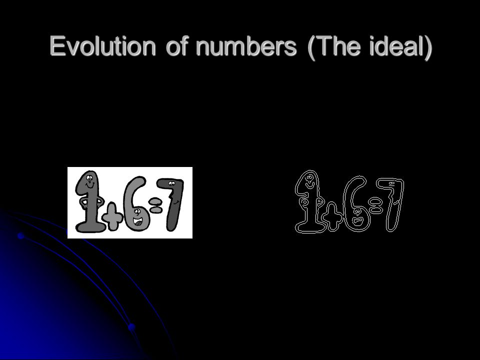 Evolution of numbers (The ideal)