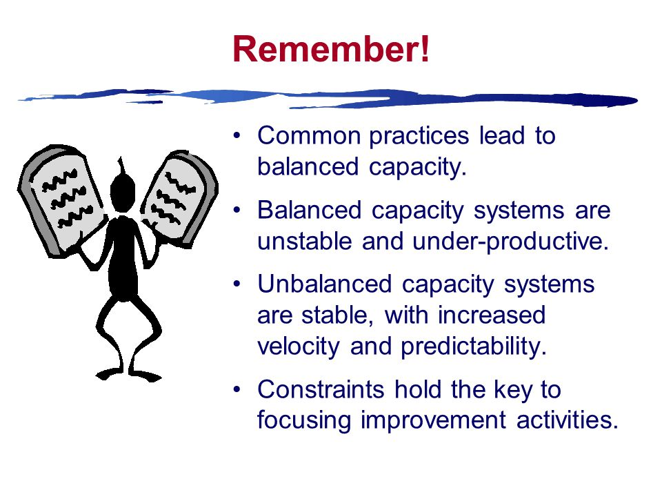 Remember. Common practices lead to balanced capacity.
