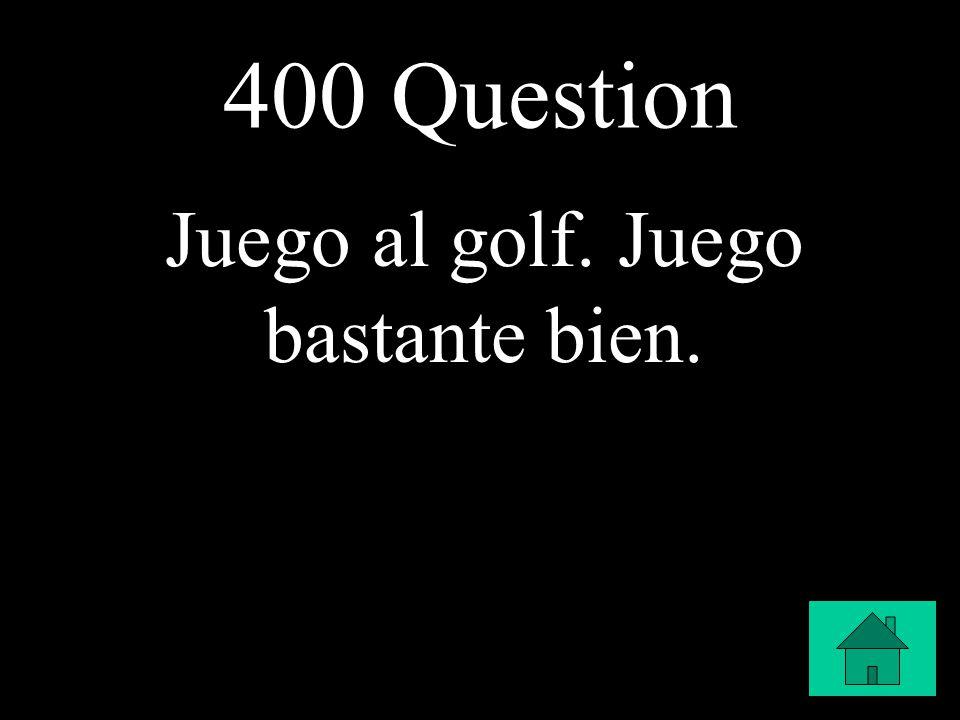 400 Question Juego al golf. Juego bastante bien.