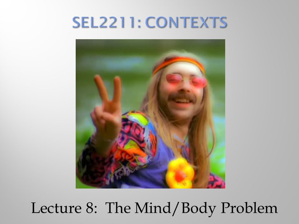 Lecture 8: The Mind/Body Problem
