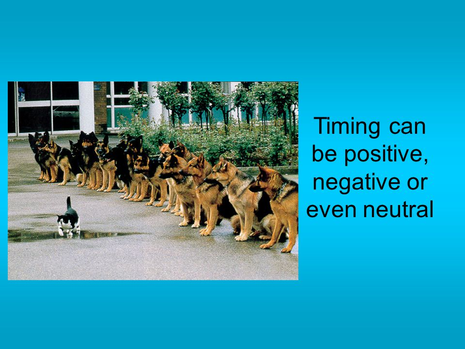 Timing can be positive, negative or even neutral