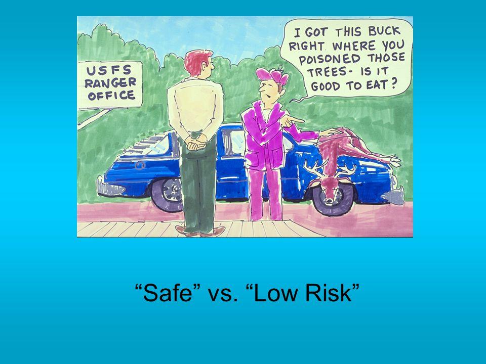 Safe vs. Low Risk