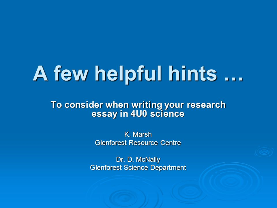 helpful tips for writing research papers Writing a research paper is a process of interaction between the materials you find in writing the research paper as part of an academic research papers.