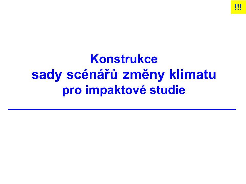 Konstrukce sady scénářů změny klimatu pro impaktové studie !!!