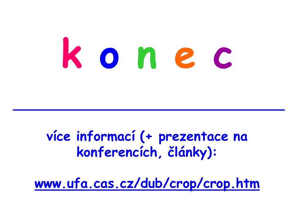 k o n e c více informací (+ prezentace na konferencích, články): www.ufa.cas.cz/dub/crop/crop.htm