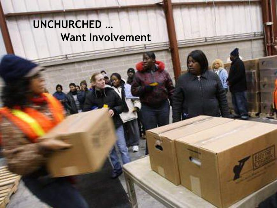 UNCHURCHED … Want Involvement