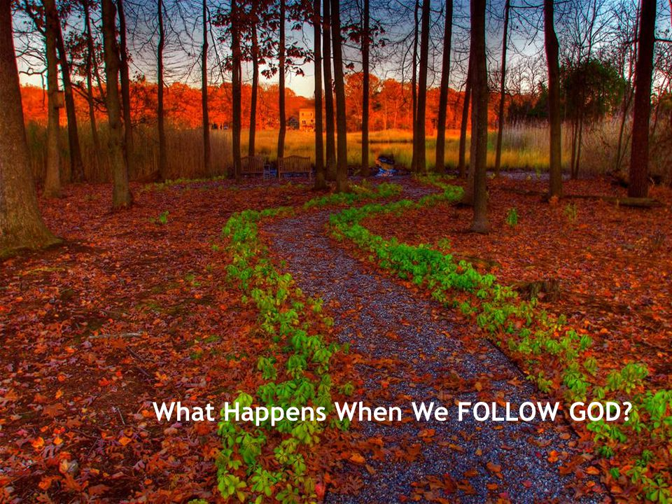 What Happens When We FOLLOW GOD?
