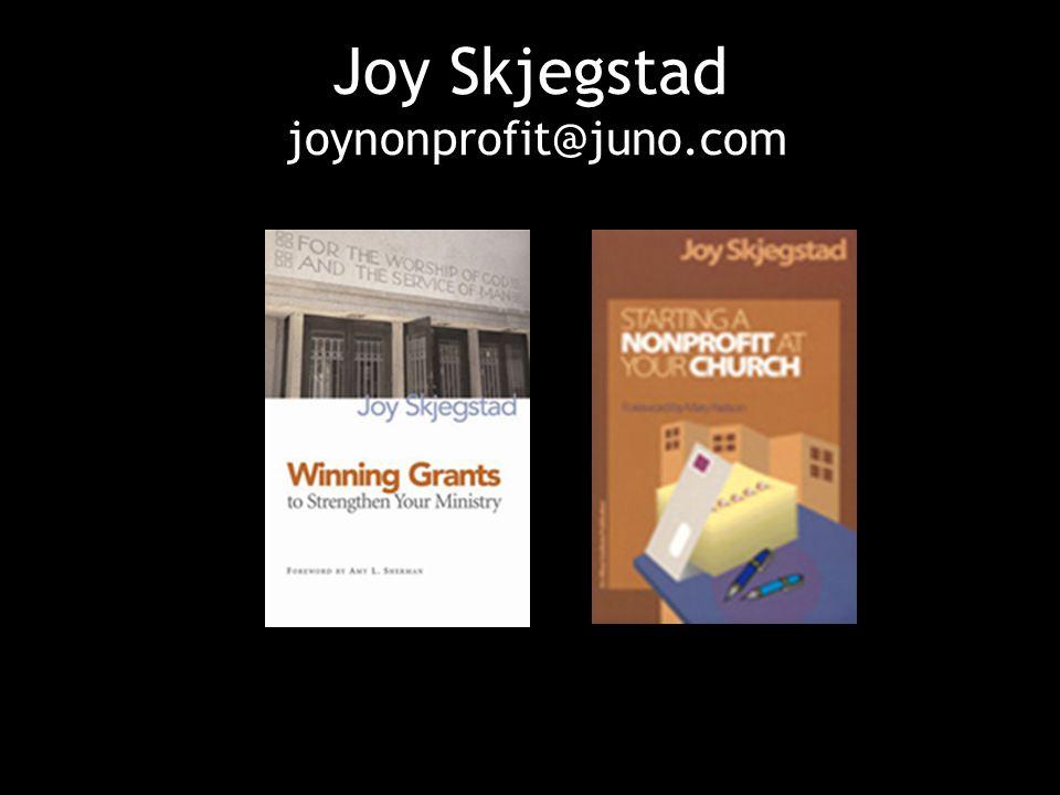 Joy Skjegstad joynonprofit@juno.com