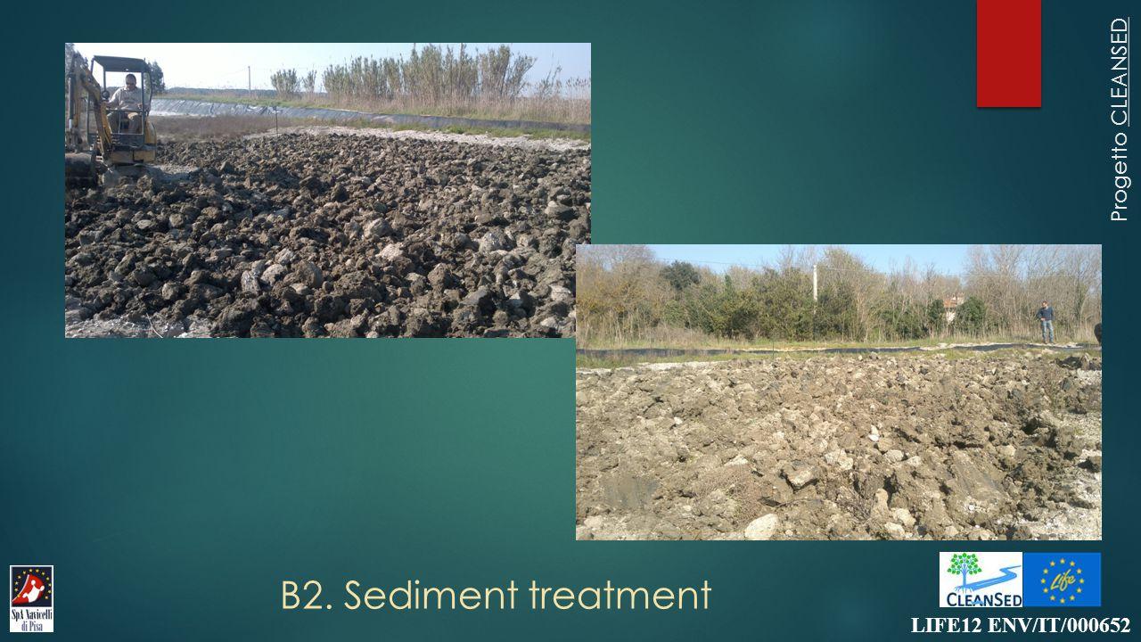 B2. Sediment treatment LIFE12 ENV/IT/000652 Progetto CLEANSED