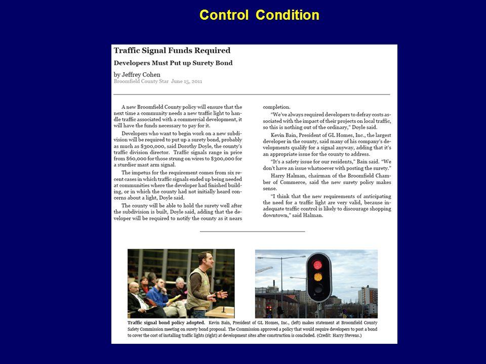 Control Condition