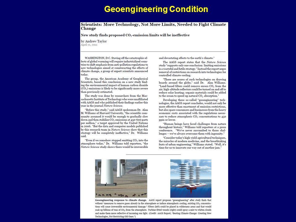 Geoengineering Condition