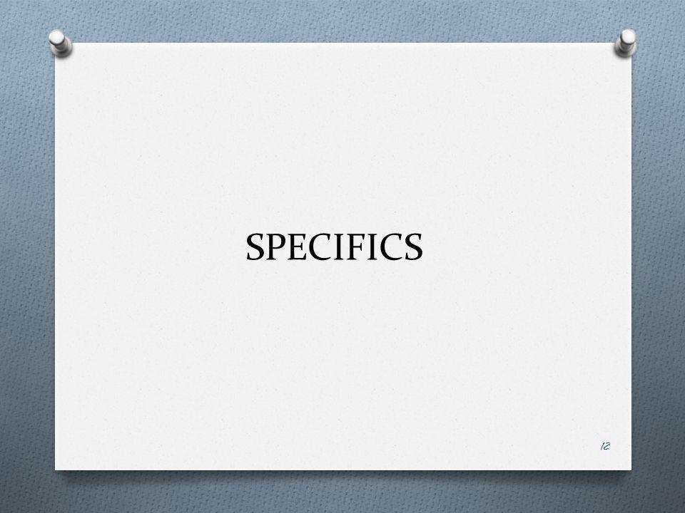 SPECIFICS 12