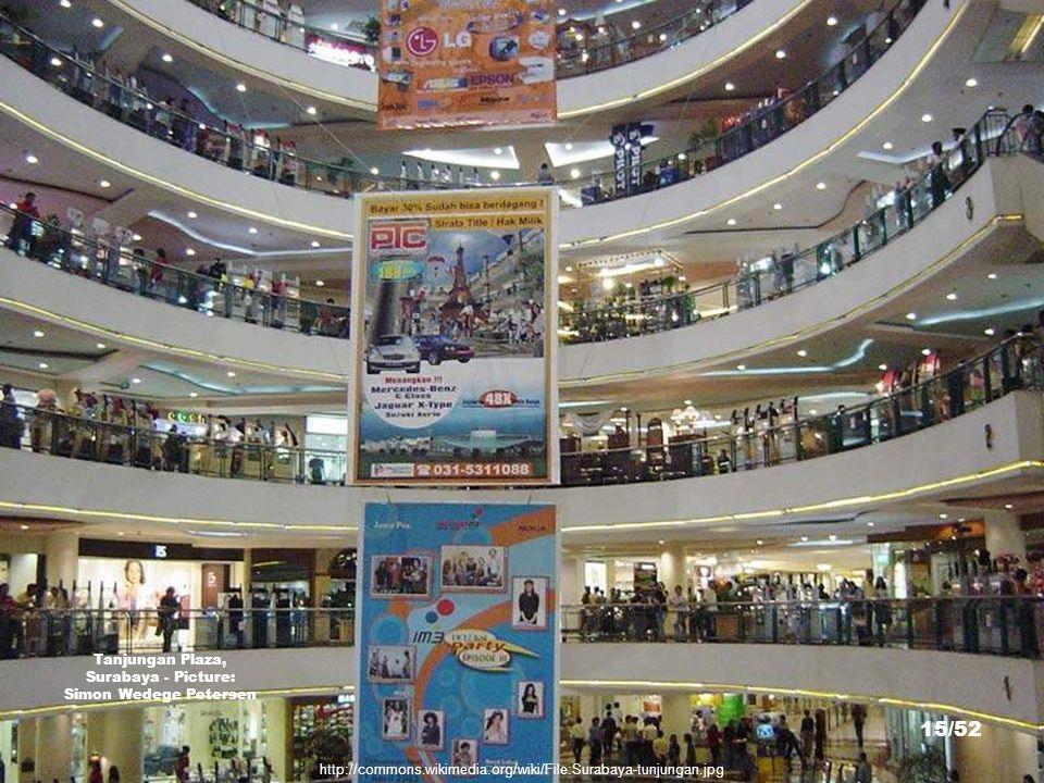 http://commons.wikimedia.org/wiki/File:Plaza_Tunjungan.JPG Tanjungan Plaza, Surabaya - Picture: Sakurai Midori 14/52