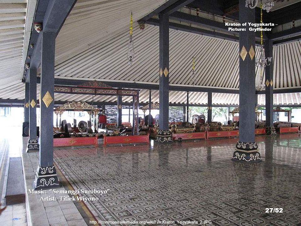 http://commons.wikimedia.org/wiki/File:Kraton_Yogyakarta_29.JPG Kraton of Yogyakarta – Picture: China_Crisis 26/52