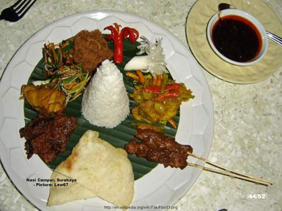 http://en.wikipedia.org/wiki/File:Nasi_Gudeg.jpg Nasi Gudeg, Yogyakarta - Picture: Christian Razukas 43/52