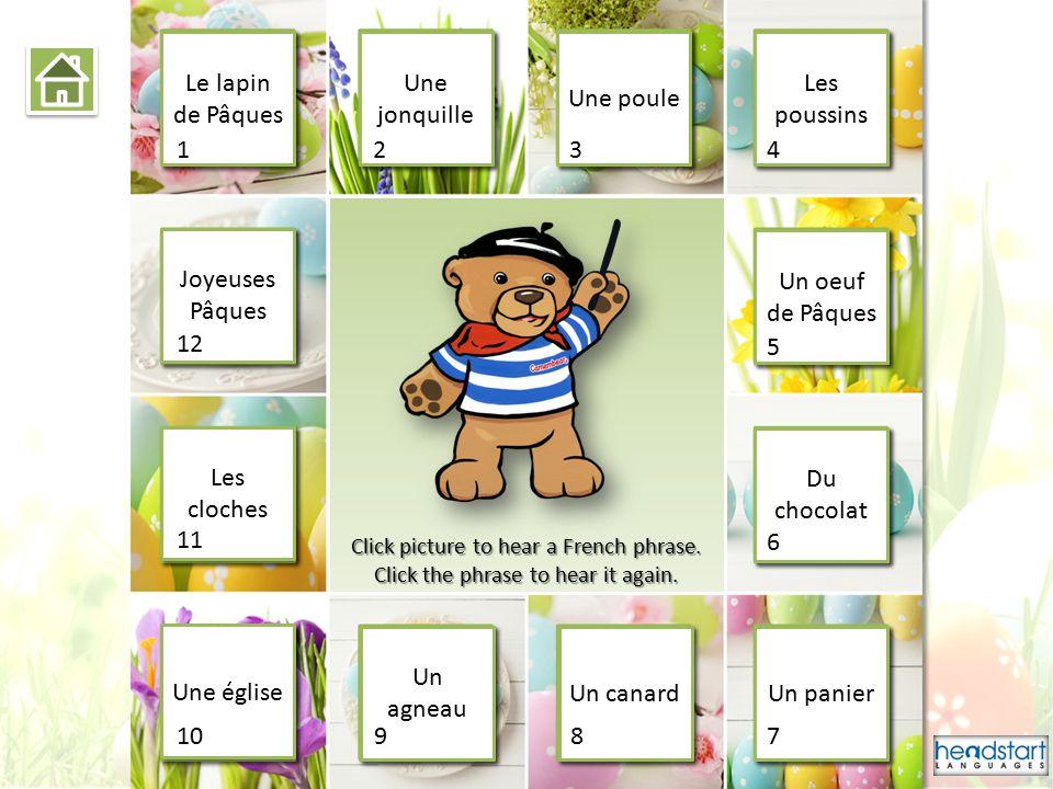 Joyeuses Pâques Practice Joyeuses Pâques Instructions Play ©2015 Headstart Languages Limited.