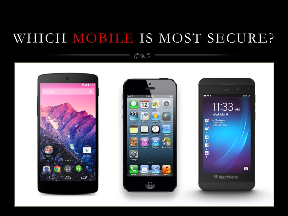 WHICH MOBILE IS MOST SECURE?
