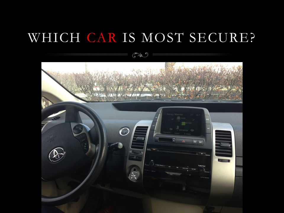 WHICH CAR IS MOST SECURE?