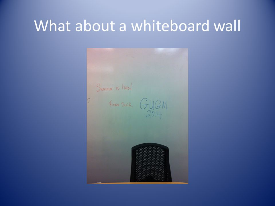 What about a whiteboard wall