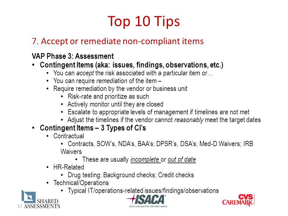 17 Top 10 Tips 7.