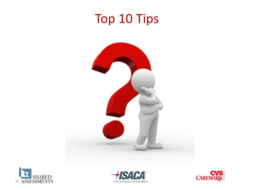 30 Top 10 Tips