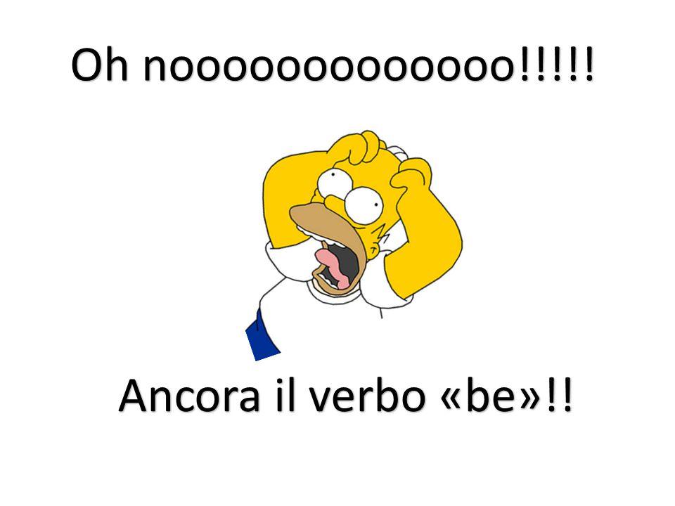 Oh nooooooooooooo!!!!! Ancora il verbo «be»!!