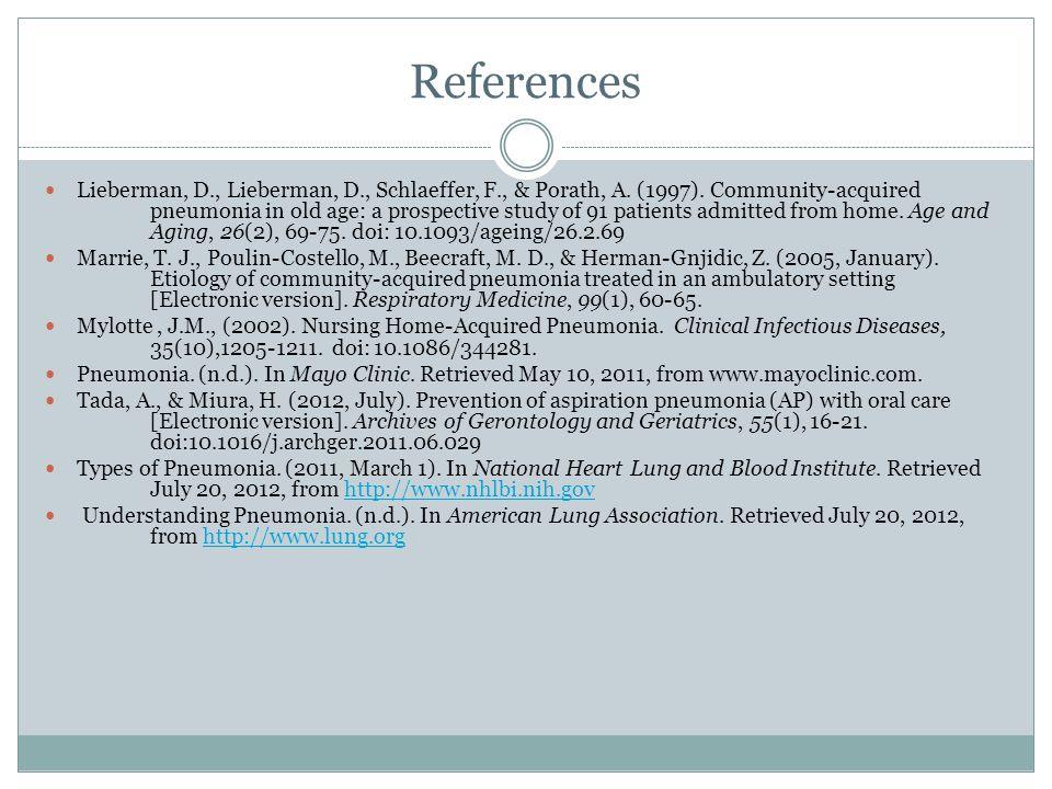 References Lieberman, D., Lieberman, D., Schlaeffer, F., & Porath, A.