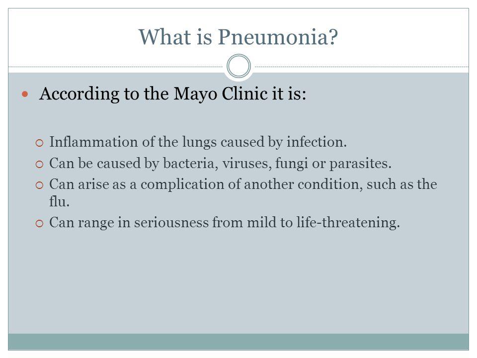What is Pneumonia.