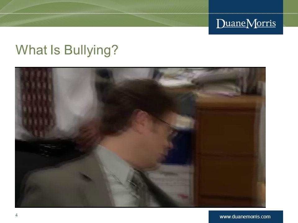 www.duanemorris.com What Is Bullying? 4