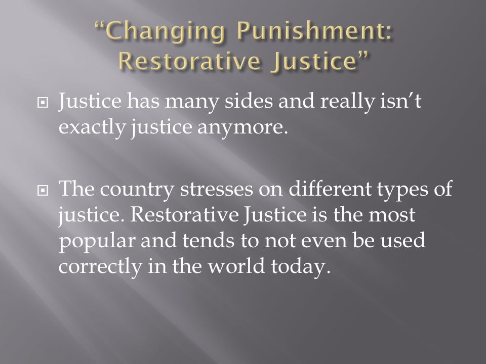  The enforcement of justice is important, yet many theories and claims create prominent conflicts within the public.