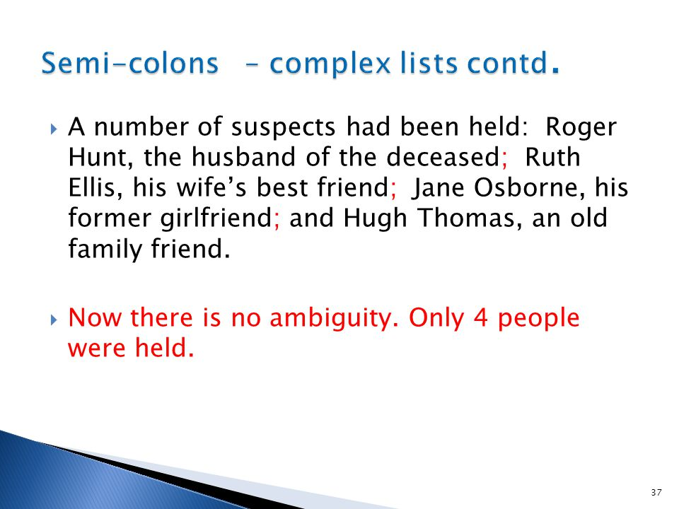  A number of suspects had been held: Roger Hunt, the husband of the deceased; Ruth Ellis, his wife's best friend; Jane Osborne, his former girlfriend