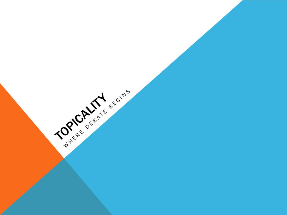OUTLINE 1.WHAT is topicality.2.WHY does topicality matter.