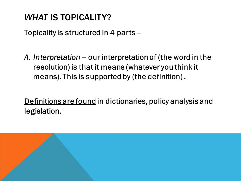 HOW IS TOPICALITY ANSWERED.