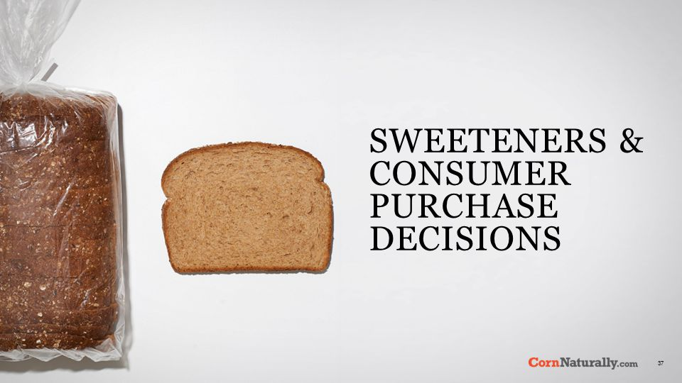 37 SWEETENERS & CONSUMER PURCHASE DECISIONS