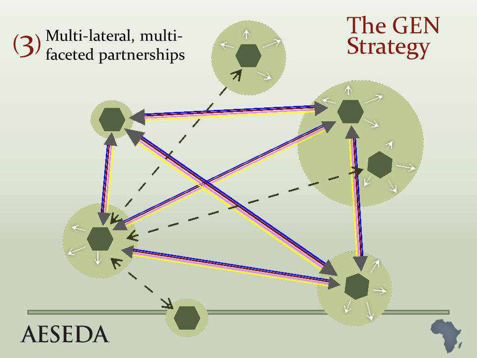Multi-lateral, multi- faceted partnerships (3)(3) The GEN Strategy