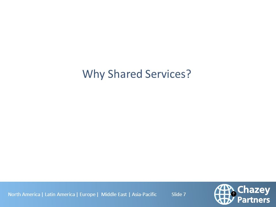 North America | Latin America | Europe | Middle East | Asia-Pacific Slide 7 Why Shared Services?